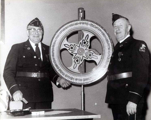 Two past commanders of Skokie's American Legion Post 320:  Herman Giannini (left) and Ray Haben